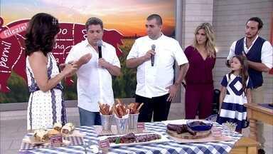 Rusty Marcellini e Jefferson Rueda mostram benefícios da carne suína