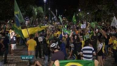 Manifestantes lotam Praça Portugal contra posse de Lula como ministro da Casa Civil - Ao todo o ato durou cerca de 4h30 e reivindicava também o fim da corrupção no país.