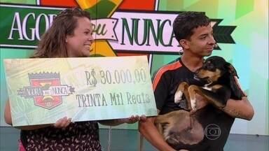 Esdras vence as três provas e leva R$ 30 mil - Com a vitória, adestrador garante ajuda aos animais abandonados