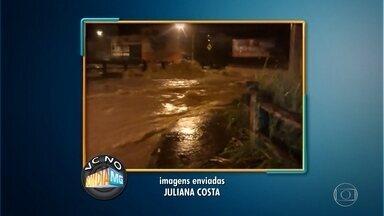 Chuva causa inundações em Belo Horizonte - Telespectadoras enviaram vídeos para o WhatsApp mostrando os alagamentos na Região da Pampulha.