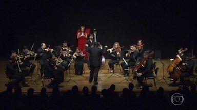 Orquestra Ouro Preto abre temporada 2016 com apresentação em Belo Horizonte - Sessão contou com a participação da atriz do Grupo Galpão Inês Peixoto.