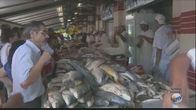 Sexta-feira Santa movimenta Mercado Municipal de Campinas - No feriado, católicos não comem carne e a procura pelo peixe aumenta.