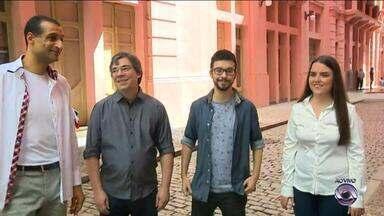 Grupo Vocal 5 presta homenagem a Porto Alegre na Casa de Cultura Mário Quintana - Capital gaúcha completa 244 anos de história.