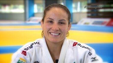 Maria Portela conta a sua vida em 1 minuto - Maria Portela começou na seleção brasileira de judô em 2007 e em 2012 foi sua primeira Olimpíada.