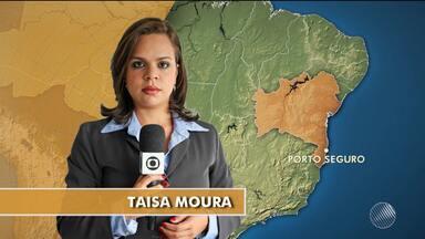 Fenômeno natural conhecido como Maré Vermelha atinge população de Porto Seguro - Confira mais informações com a repórter Taísa Moura.