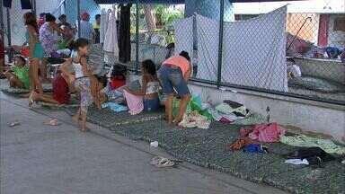 Mais de 4.500 famílias ficaram desabrigadas por causa das chuvas - Cruz Vermelha pede doações.