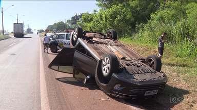 Acidente na BR 369 termina em morte - Os dois veículos envolvidos na batida trafegavam no mesmo sentido. Marcelo Vieira da Silva, dono de um box na Ceasa, morreu no local.