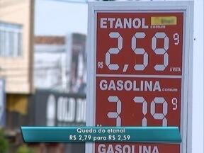 Etanol tem queda média de R$ 0,20 na região de Presidente Prudente - Litro do combustível passou de R$ 2,79 para R$ 2,59 na maioria dos postos.