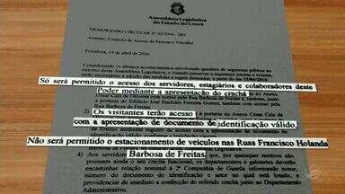 Assembleia do Ceará proíbe estacionamento no entorno do órgão após ameaça de bomba - Assembleia do Ceará proíbe estacionamento no entorno do órgão após ameaça de bomba