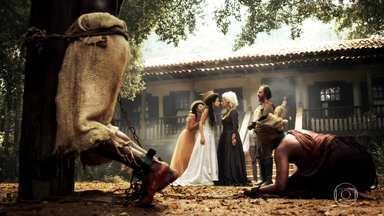 Capítulo de 15/04/2016 - Joaquina se revolta contra os maus tratos de Dionísia com seus escravos