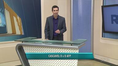 AFP empata com o Cascavel pelo paranaense de futsal - Jogo foi no Oeste do estado. Placar de zero a zero.