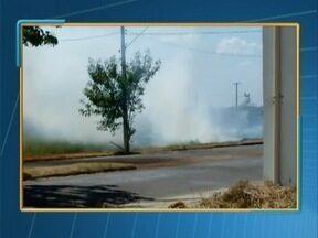 Bombeiros recebem pelo menos 30 chamados de fogo em mato nesta quarta-feira - Foram vários registros feitos na cidade.