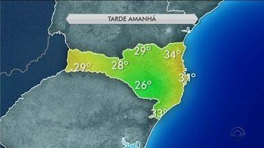 Quinta-feira (21) será de temperaturas elevadas com chances de chuva em SC - Quinta-feira (21) será de temperaturas elevadas com chances de chuva em SC