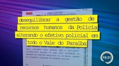 Justiça derruba liminar que exigia contratação de policiais para Jacareí - Liminar foi derrubada após Estado revogar resolução que estipulava efetivo.