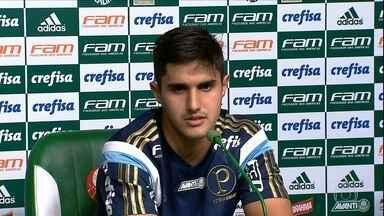 Titular no time, Thiago Martins diz que Palmeiras está pronto para clássico sem torcida - Titular no time, Thiago Martins diz que Palmeiras está pronto para clássico sem torcida