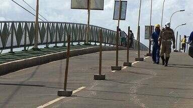 Ponte da Coroa do Meio em Aracaju passa por manutenção - Ponte da Coroa do Meio em Aracaju passa por manutenção,