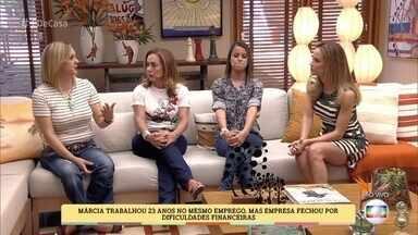 'É de Casa' recebe mãe e filha desempregadas e à procura de novas oportunidades - Cissa Guimarães e Ana Furtado conversam com a dupla