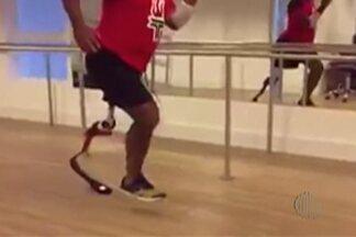 João Batista inicia adaptação com nova prótese para corridas - O atleta comprou a prótese com a ajuda dos amigos, que realizaram uma corrida em Suzano para arrecadar fundos para João.