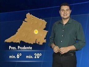 Confira como ficam as temperaturas nesta quinta-feira - Tiago Rodrigues tem as informações.