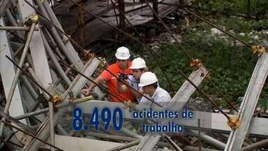 Ceará tem média de 36 acidentes de trabalho por dia - Em 2015, mais de 270 trabalhadores ficaram inválidos após acidentes.