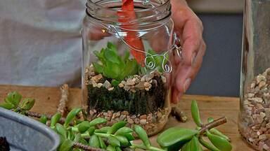 Novo de Novo - Potes de vidro ganham decoração e novas utilidades: aprenda a fazer.