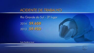 RS é o terceiro estado com mais acidentes de trabalho - No restante do Brasil, acidentes relacionados ao trabalho tiveram queda de 3%.
