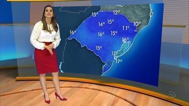 Final de semana será de frio para os gaúchos - A máxima será de 16°C em Porto Alegre, neste sábado (30).
