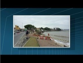 Após mar avançar 8 metros, Prefeitura de Rio das Ostras inicia obra na orla de Tartaruga - Revitalização começou neste sábado (30).