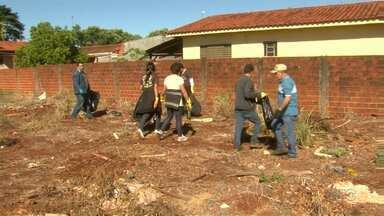 Moradores de Paiçandu organizam mutirão contra a dengue - Trabalho foi realizado com apoio da prefeitura, que cedeu caminhões e tratores