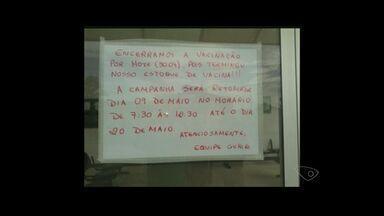 Vacinas acabam em postos de saúde de Guriri em São Mateus no ES - Estoque acabou durante a tarde.