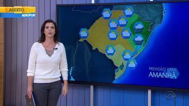 Tempo: chuva fica restrita apenas ao Nordeste do RS na quarta-feira (11) - Massa de ar frio e seco causa queda nas temperaturas.