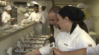 Chefes de cozinha de várias partes do mundo se reúnem no 'Mesa Ao Vivo Bahia' - O evento começou segunda (9) e vai até quarta (11); veja.