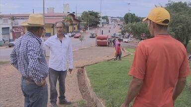 Grades estão sendo instaladas no complexo da Estrada de Ferro Madeira Mamoré - Objetivo é ter controle sobre o público que frequenta o local.