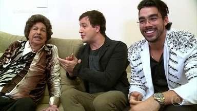 Gabriel Diniz se encontra com Cauby Peixoto - Rafael Cortez promove encontro entre os cantores