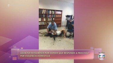 Juíza Tatiane Moreira Lima fala sobre episódio em que foi feita refém em fórum - A magistrada trabalha em uma vara de violência doméstica e faz palestras de conscientização para os homens agressores