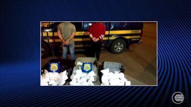 Alagoana e Amazonense foram presos em Goiás quando traziam drogas para Teresina - Alagoana e Amazonense foram presos em Goiás quando traziam drogas para Teresina