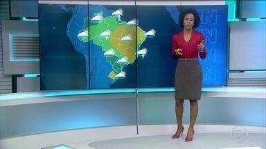 Região Norte, parte do Sul e Sudeste tem alerta de temporais neste sábado (21) - Tempo firme no Rio Grande do Sul e boa parte do Nordeste. Rio e Minas também com tempo bom.
