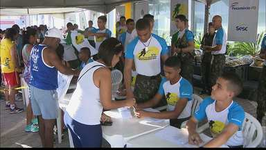 Domingo em Família acontece na praia do Cabo Branco, em João Pessoa - Evento da Rede Paraíba de Comunicação ofereceu diversos serviços em parceria com o Sesc/Senac, Exército, Marinha e algumas empresas.