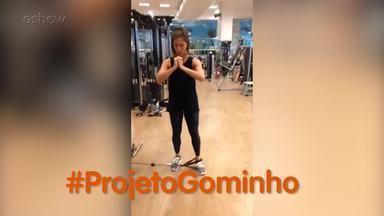 Maria Joana apresenta seu #ProjetoGominho - Atriz mostra sua rotina de treinos para ficar com a barriga sarada