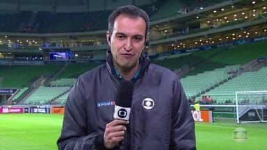 Fluminense enfrenta o Palmeiras pelo Brasileirão - O técnico Levir Culpi tirou o atacante Richarlison e colocou no lugar o volante Edson para enfrentar o Palmeiras em São Paulo. Flamengo enfrenta a Chapecoense e o Botafogo, o Atlético-PR nesta quarta-feira (25).