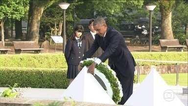Barack Obama faz visita histórica a Hiroshima - Barack Obama foi a Hiroshima e se tornou o primeiro presidente dos EUA em exercício a visitar a cidade devastada por uma bomba atômica americana.