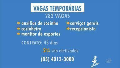 Confira as oportunidades de emprego temporários para a alta estação - Saiba mais em g1.globo.com/ce