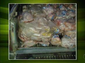Carga de frango com mais de 700 quilos é apreendida no Tocantins - Carga de frango com mais de 700 quilos é apreendida no Tocantins