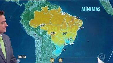 Confira como fica o tempo nesta terça-feira (31) em todo o Brasil - Pode chover a qualquer hora em São Paulo, Mato Grosso do Sul, Paraná e Piauí.