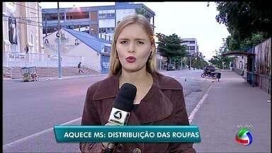 Em Corumbá, doações ao Aquece MS começam a ser distribuídas - As duas primeiras instituições a receber são o presídio feminino e a Comunidade Nossa Senhora de Fátima.