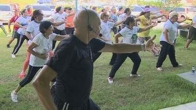 Tai chi chuan é oferecido gratuitamente a idosos em Manaus - Artes marciais trazem uma série de benefícios às pessoas da terceira idade.