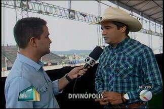 Presidente do Sindicato Rural comenta sobre atrações da DivinaExpo - Repórter Thiago Carvalho, conversou com o organizador do evento e com uma das atrações, a berranteira Virginia Branquinho.