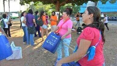 Mulheres realizam protesto contra estupro na capital - Mulheres realizam protesto contra estupro na capital