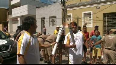 JPB2JP: Veja como foi o primeiro dia da Tocha Olímpica na Paraíba - Chama passou pelas cidades de Pedras de Fogo, Itabaiana e Campina Grande.