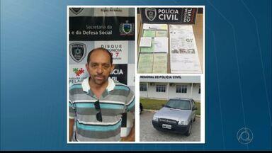 JPB2JP: Homem é detido suspeito de fraudar venda de veículos - Veículos vendidos eram adquiridos em leilões judiciais.